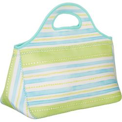 Stripe Print Lunch Tote