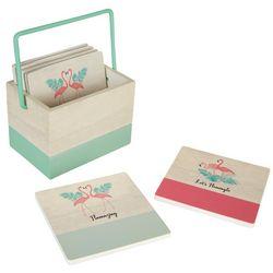 Flamingo Pantry 6-pk. Coasters & Caddy Set