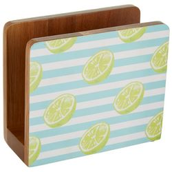 Lime Stripe Napkin Holder