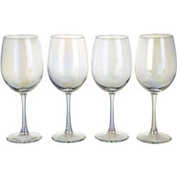 Circleware 4-pc. Radiance White Pearl Wine Glass Set
