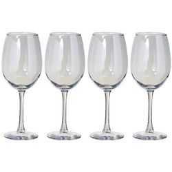 Circleware 4-pc. Radiance Pearl Wine Glass Set