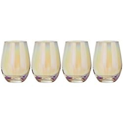 Circleware 4-pc. Radiance Pearl Stemless Wine Glass Set