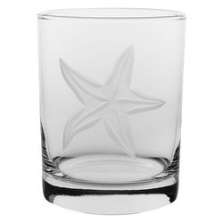 Rolf Glass 14 oz. Starfish Double Old Fashioned Glass