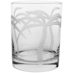 Rolf Glass 14 oz. Palm Tree Double Old Fashioned Glass