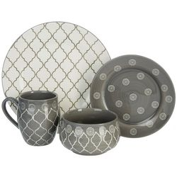 Baum Brothers 16-pc. Moroccan Grey Dinnerware Set