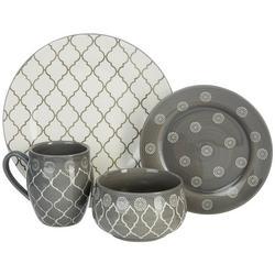 16-pc. Moroccan Grey Dinnerware Set