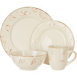 Thomson Pottery 16-pc. Hampton Shell Dinnerware Set