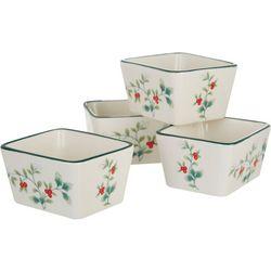 4-pc. Winterberry Dip Bowl Set