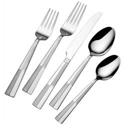 International Style 20-pc. Arabesque Frost Flatware Set