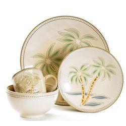 16-pc. Palm Tree Dinnerware Set