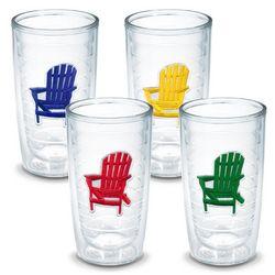 Tervis 4-pc. 16 oz. Adirondack Chair Tumbler Set