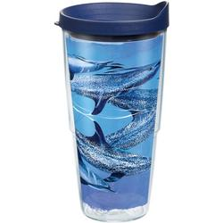 24 oz. Guy Harvey Blue Dolphins Tumbler With Lid