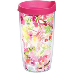 Tervis 16 oz. Yao Cheng Sakura Floral Tumbler With Lid