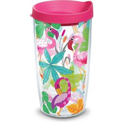 16 oz. Flamingo Fun Tumbler With Lid