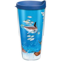 Tervis 24 oz. Guy Harvey Shark Collage Tumbler With Lid