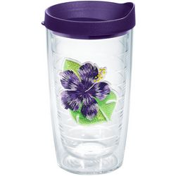 Tervis 16 oz. Island Purple Hibiscus Patch Tumbler With Lid