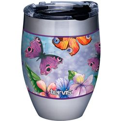 12 oz. Stainless Steel Butterfly Garden Wine Tumbler