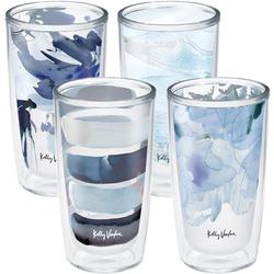 4-pc 16 oz. Kelly Ventura Blue Collection Tumbler Set