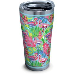 Tervis 20 oz. Stainless Steel Bright Flamingo Tumbler