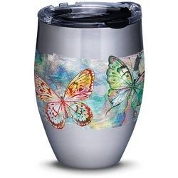 12 oz. Stainless Steel Butterfly Glow Wine Tumbler