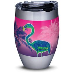12 oz. Stainless Steel Neon Flamingo Wine Tumbler