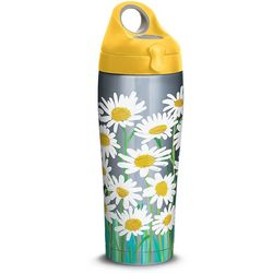 Tervis 24 oz. Stainless Steel White Daisies Water Bottle