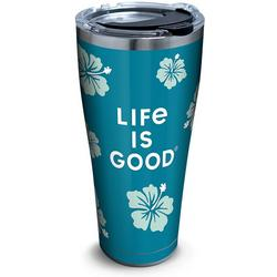 30 oz. Stainless Steel Life Is Good Hibiscus Tumbler