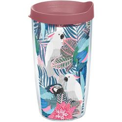 16 oz. Tropical Birds Tumbler With Lid