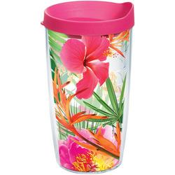 16 oz. Tropical Hibiscus Tumbler With Lid