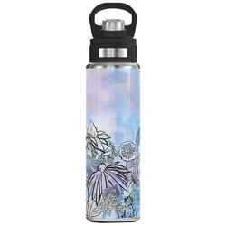 24 oz. Stainless Steel Floral Line Wide Mouth Tumbler