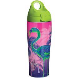 24 oz. Guy Harvey Neon Flamingo Water Bottle