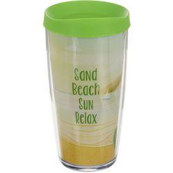 COVO 16 oz. Sand Beach Sun Relax Travel Tumbler