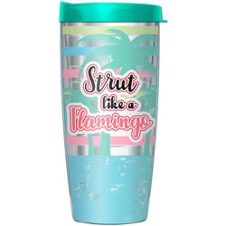 16 oz. Strut Like A Flamingo Travel Tumbler