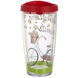 Tropix 16 oz. Adventure Awaits Bicycle Travel Tumbler