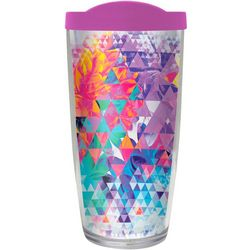 COVO 16 oz. Floral Hologram Travel Tumbler