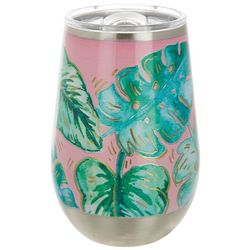 Tropix 12 oz. Stainless Steel Monstera Wine Tumbler