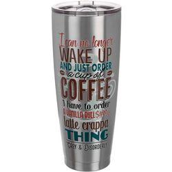 Grey & Disorderly 30 oz. Stainless Steel Coffee Tumbler