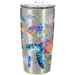 Tropix 20 oz. Stainless Steel Splash Turtle Tumbler