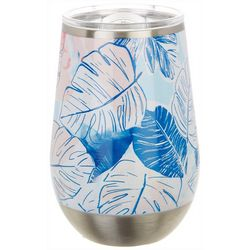 Coastal Home 12 oz. Stainless Steel Palm Leaves