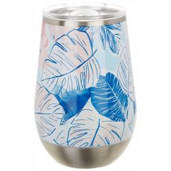 12 oz. Stainless Steel Palm Leaves Wine Tumbler