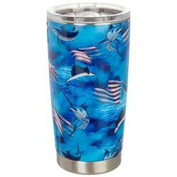 Reel Legends 20 oz. Stainless Steel Fish Americana Tumbler