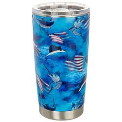 20 oz. Stainless Steel Fish Americana Tumbler