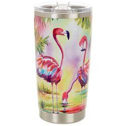 Ellen Negley 20 oz. Stainless Steel Flamingo Family Tumbler