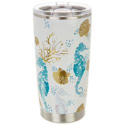 Coastal Home 20 oz. Stainless Steel Gold Seahorse