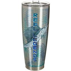30 oz. Stainless Steel Bow Fin Tumbler