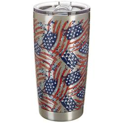 20 oz. Stainless Steel American Flag Tumbler