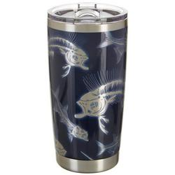 20 oz. Stainless Steel Skeleton Fish Tumbler