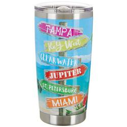 20 oz. Stainless Steel Beach Signs Tumbler