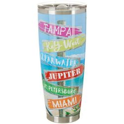 30 oz. Stainless Steel Beach Signs Tumbler