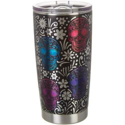 Brighten the Season 20 oz. Stainless Steel Skull Tumbler